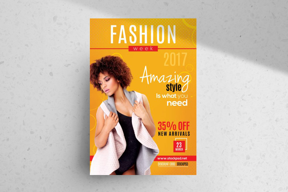 Fashion Week 2019 – Free PSD Flyer Template