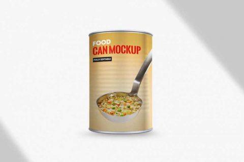 Free Food Can Mockup