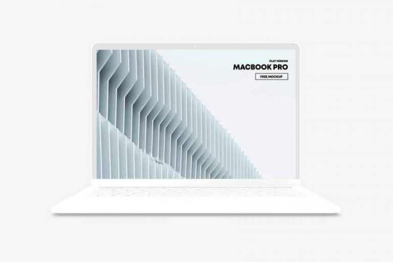 Free MacBook Pro Clay Mockup