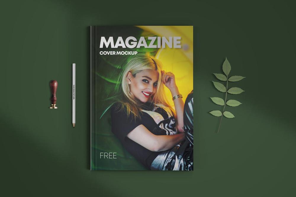 Magazine Cover V.2 Free Mockup (PSD)