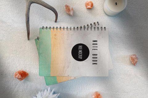 Note Book Scene Kit Free Mockup