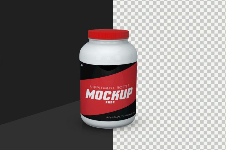 Supplement Bottle Free Mockup