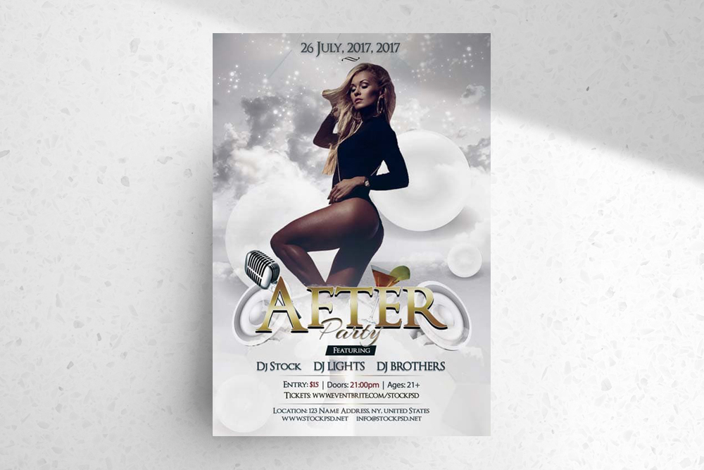 After Party – Download Free PSD Flyer Template