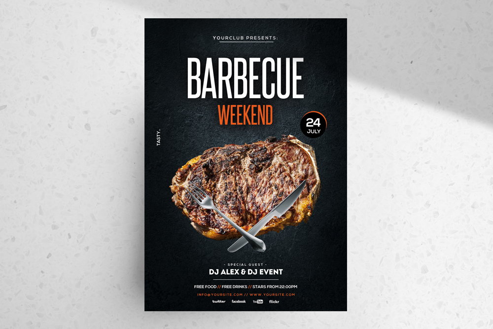 Barbecue Weekend – Free BBQ PSD Flyer Template