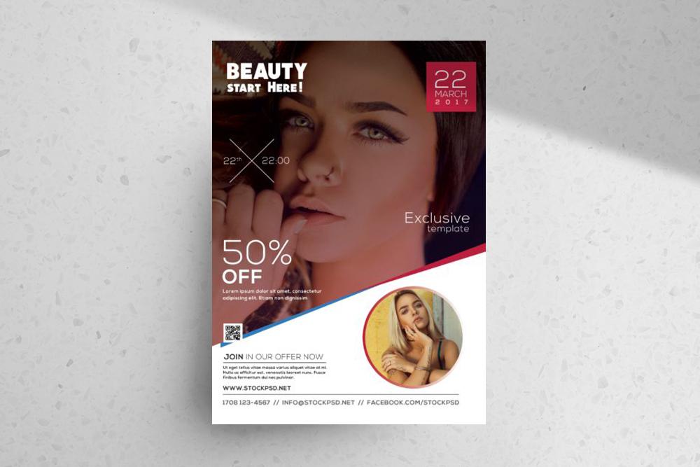 Beauty – Freebie Photography PSD Flyer Template