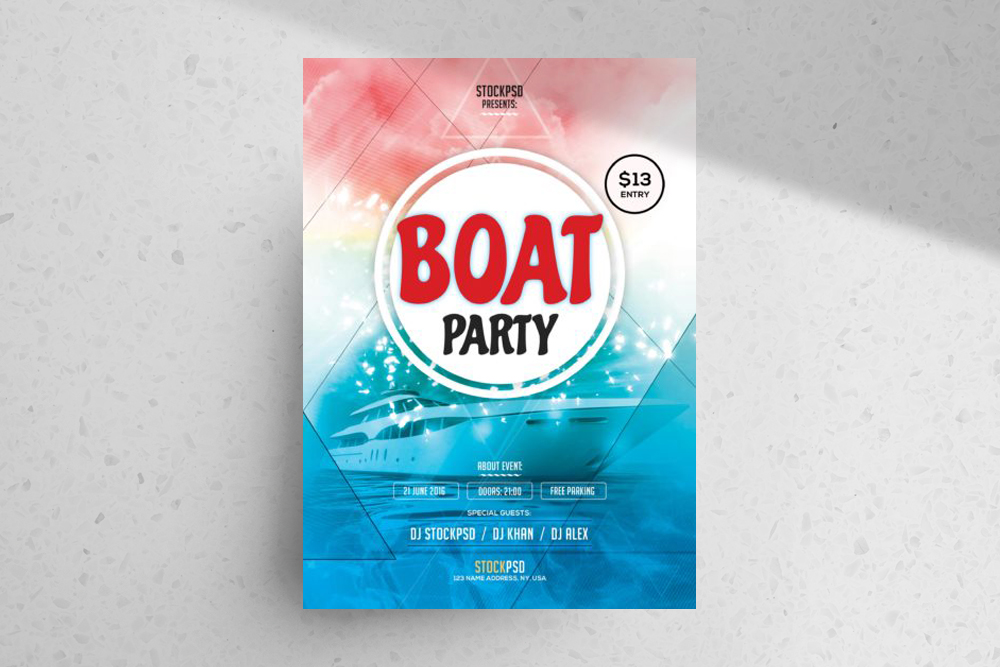 Boat Party – FREE PSD Flyer Template