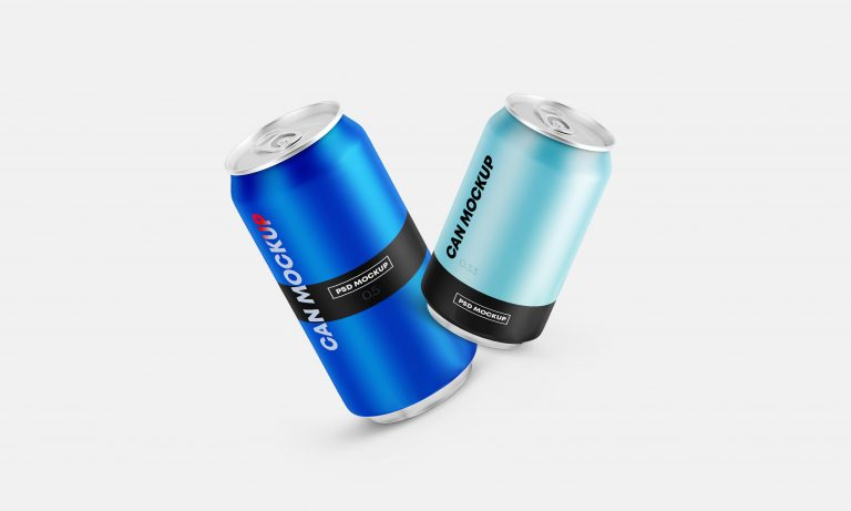 Floating Can Mockups