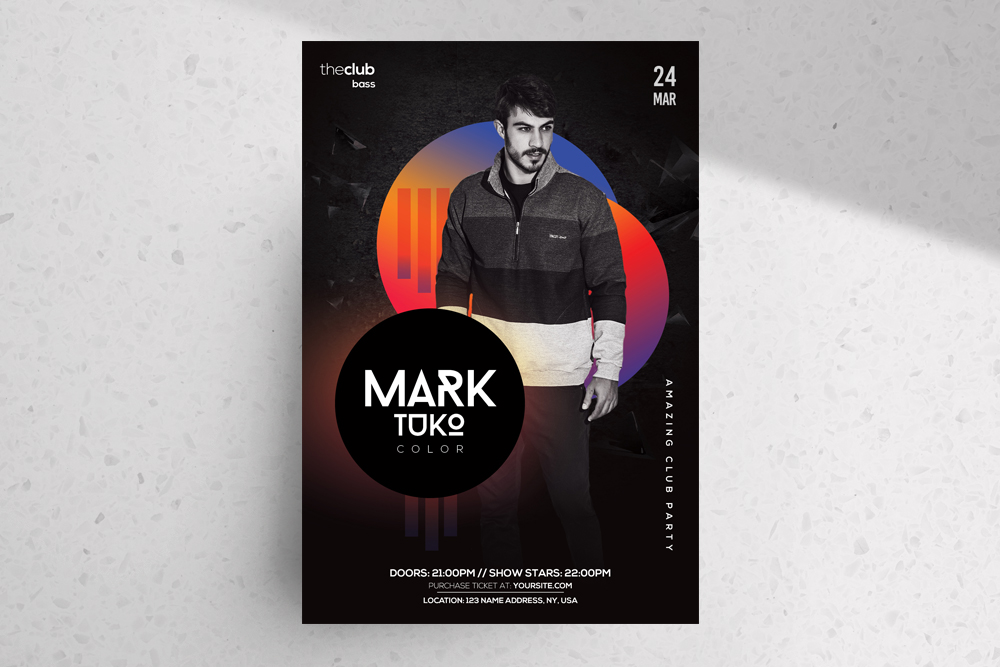 Club – Free Colorful Alternative PSD Flyer Template