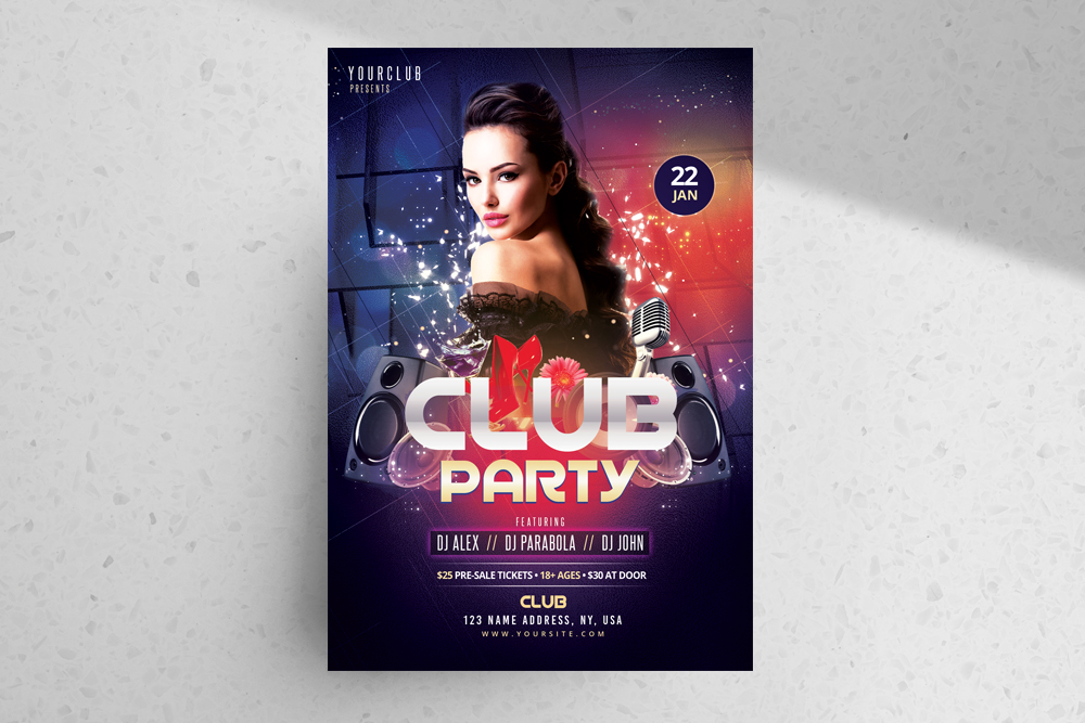 Club Party – Freebie Photoshop Flyer Template