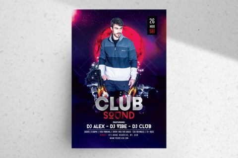Club Sound PSD Free Flyer Template