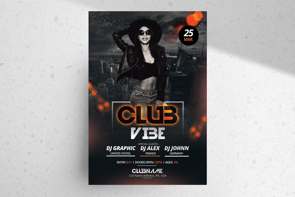 Club Vibe – Free PSD Flyer Template