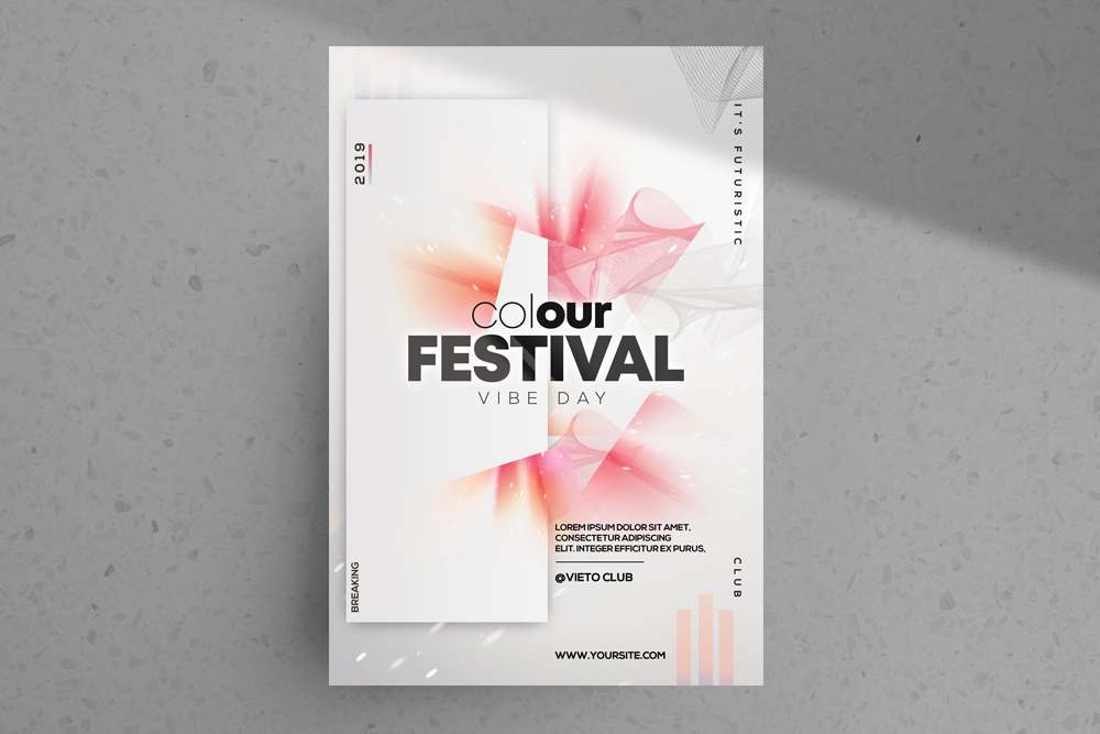 Color Festival – Free Alternative PSD Flyer Template