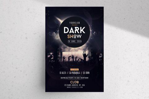 Dark Show – Free PSD Flyer Template