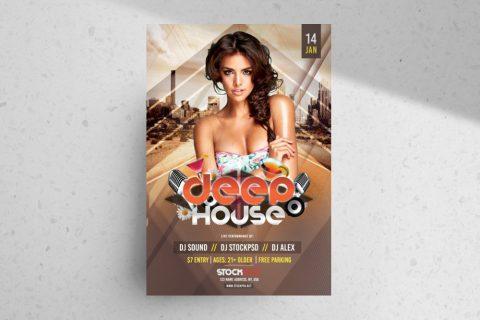 Deep House – Free PSD Flyer Template