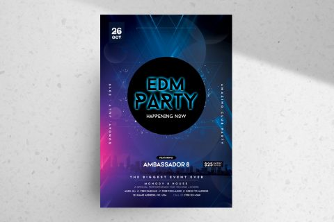 EDM Party – Free Club PSD Flyer Template