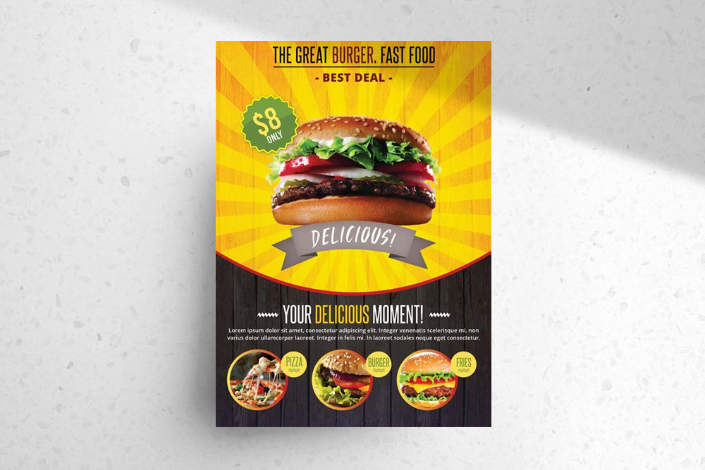 Fast Food – Download Free PSD Flyer Template