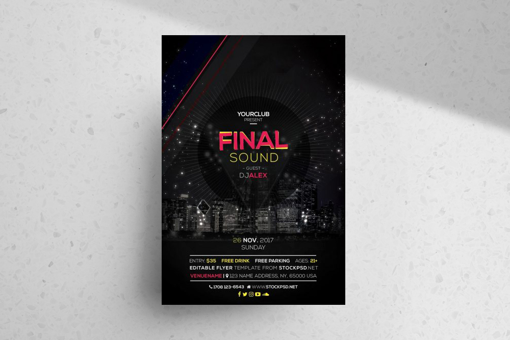 Finale Sound – Free PSD Flyer Template