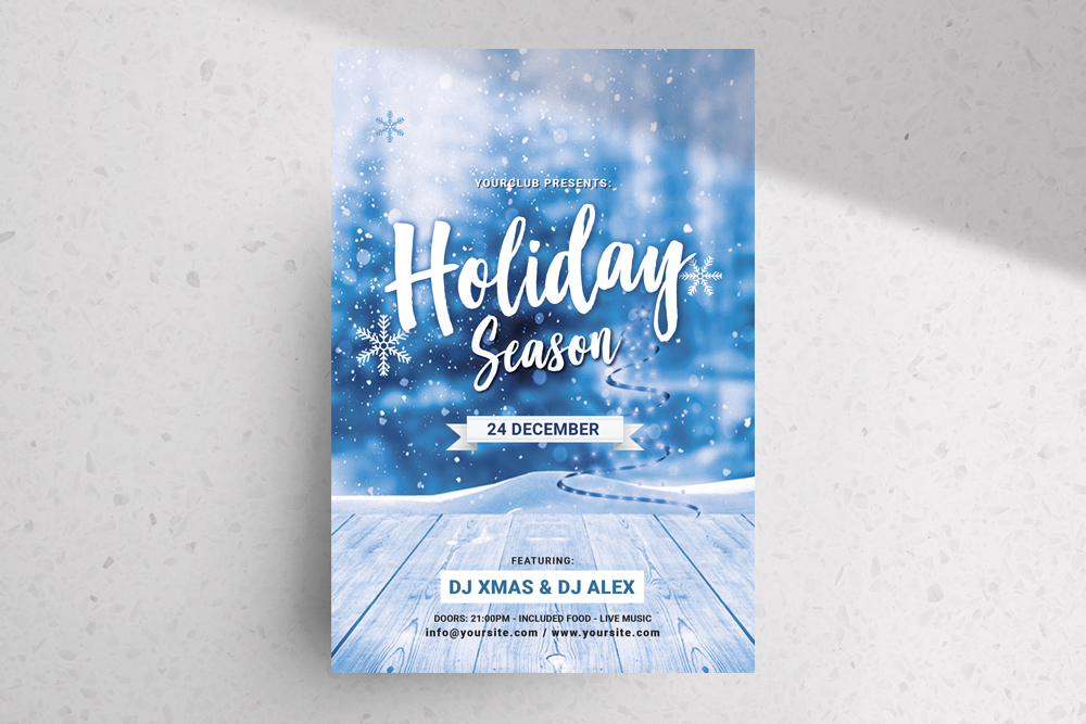 Holiday Season – Christmas Free PSD Flyer Template