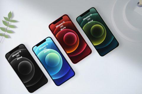 iPhone 12 All Colors Free Mockup vol2