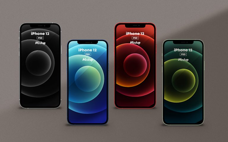 iPhone 12 All Colors Mockup