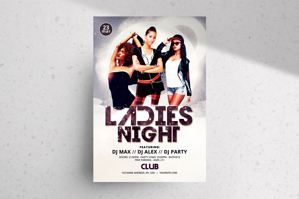 Ladies Night Freebie PSD Flyer Template