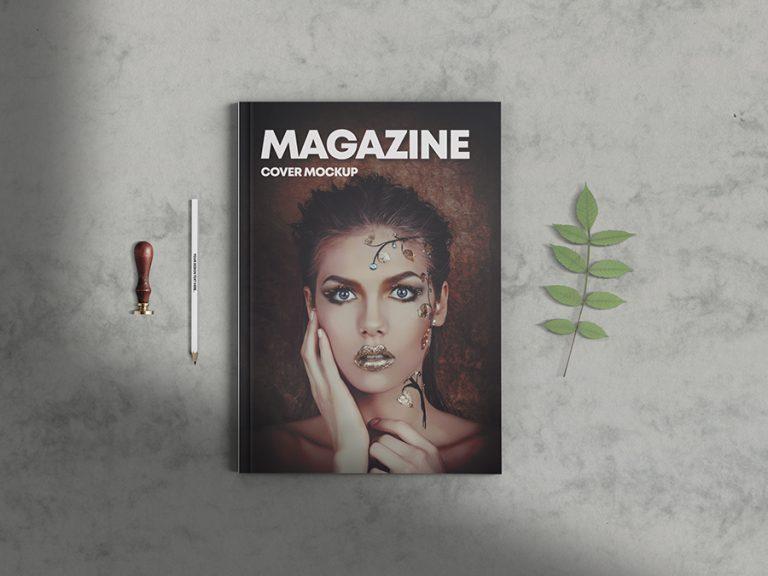 Magazine Cover Scene Mockup