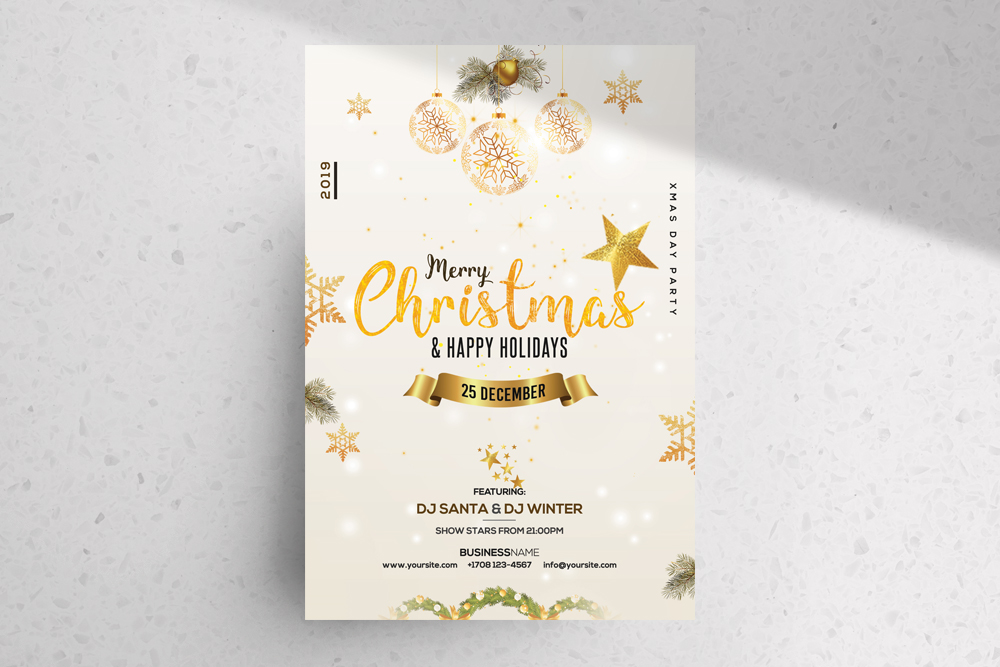 Christmas & Holiday – Free Invitation & Flyer PSD Template