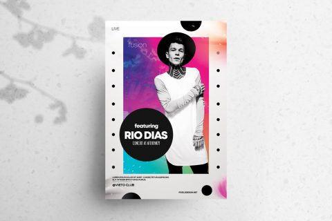 RIO – Free Concert Abstract PSD Flyer Template