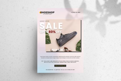 Sale Shoes Free PSD Flyer Template