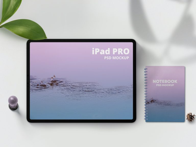 Simple iPad Pro & Notebook Mockup