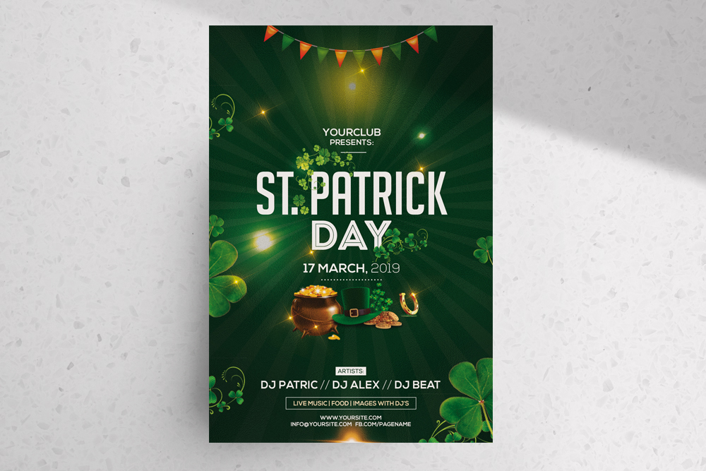 Free St. Patricks PSD Flyer Template