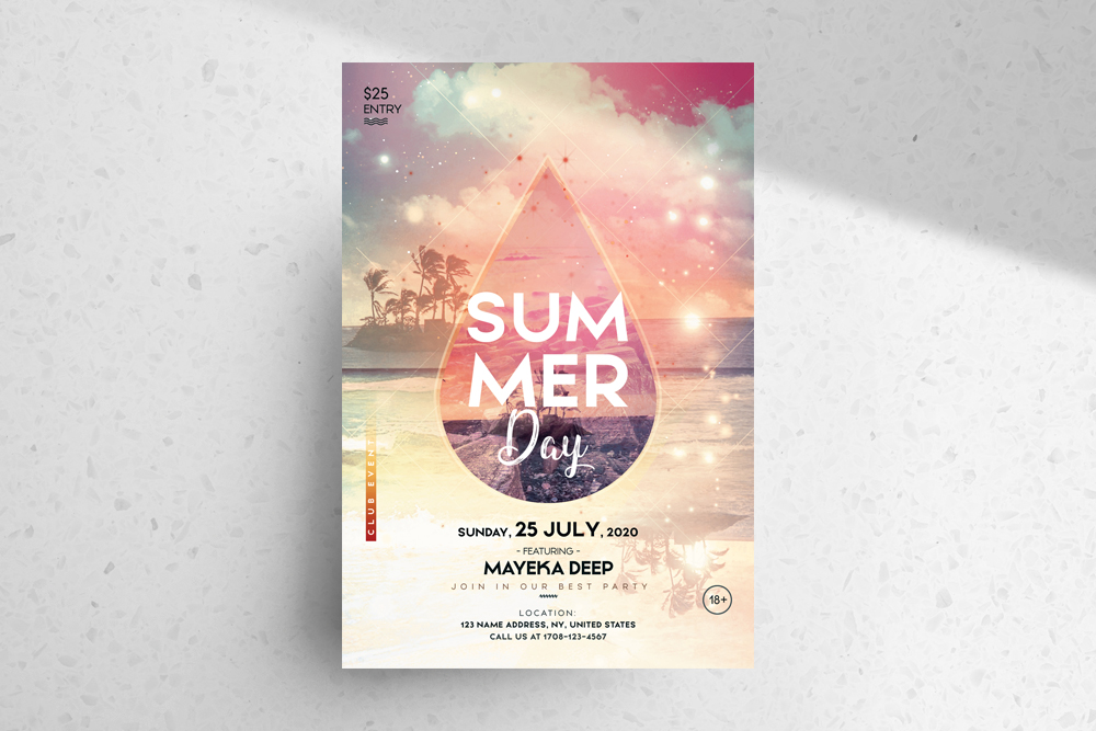 Summer Day PSD Free Flyer Template