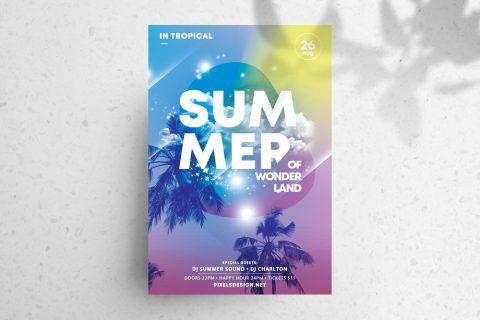 Summer Land Free PSD Flyer Template