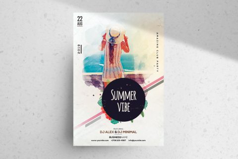 Summer Vibe – Free PSD Flyer/Poster Template