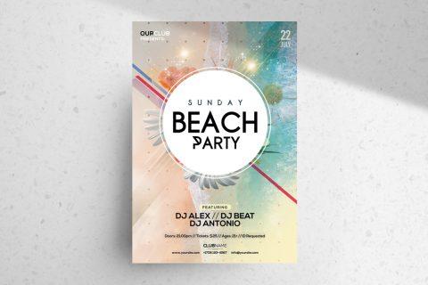 Sunday Beach – Free Summer PSD Flyer Template
