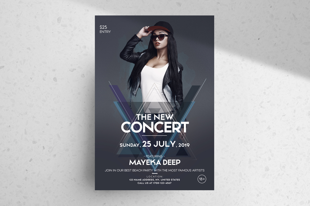 The Concert Party – Free Party PSD Flyer Template
