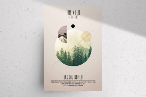 The View – Nature PSD Flyer Template