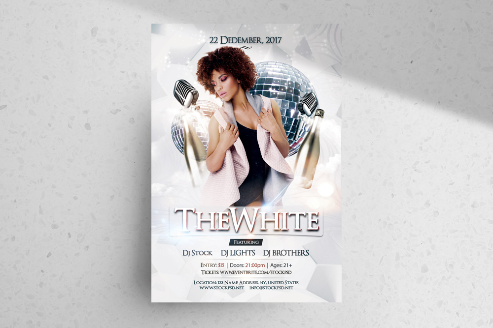 The White – Download Free Luxury PSD Flyer Template