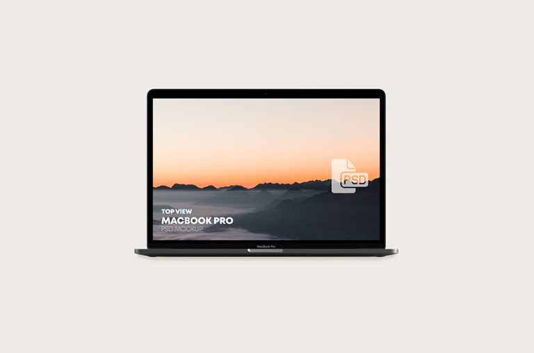 Top View Macbook Pro Mockup