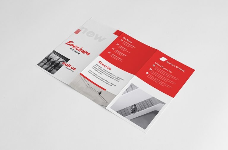 Tri Fold Brochure Outside Mockup