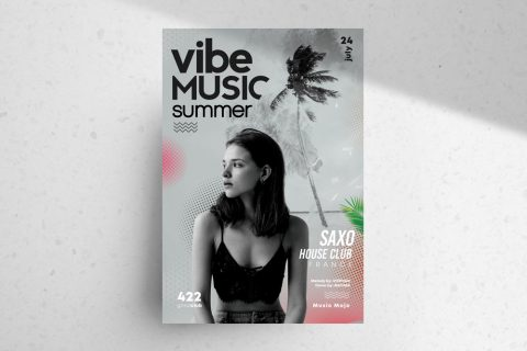 Vibe Summer Free PSD Flyer Template