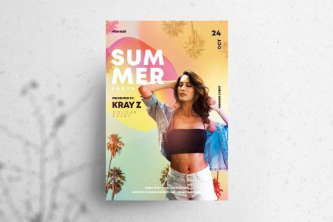 Vibe Sound Tropical Free PSD Flyer Template