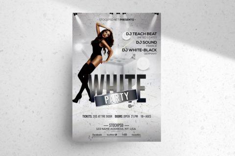 White Party – Free Elegant PSD Photoshop Flyer Template