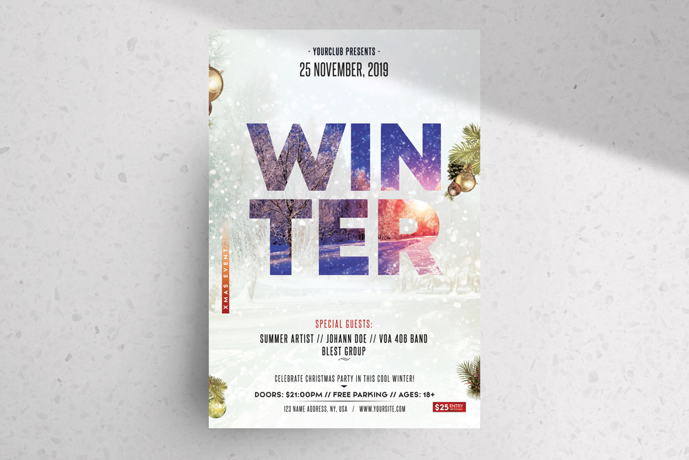 Winter Season – Free PSD Flyer Template