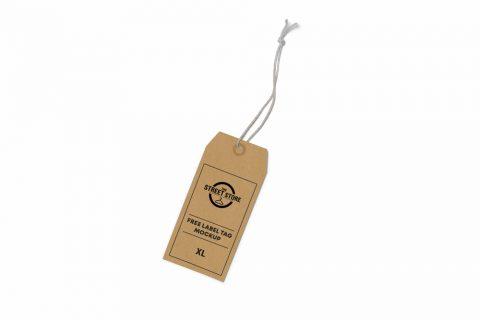 Label Tag Free Mockup