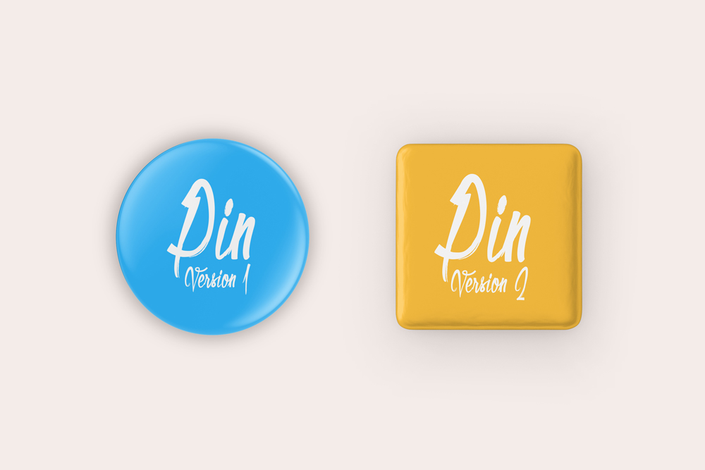 Pin Badge Button Free Mockup