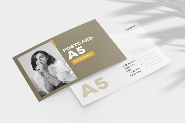 Double Sided Postcard Free Mockup