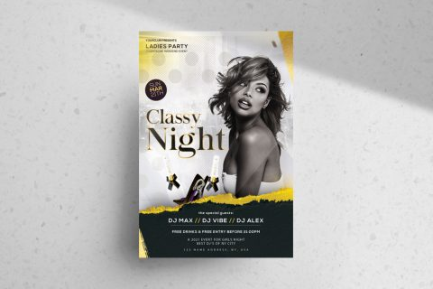 Classy Night Event Free PSD Flyer Template