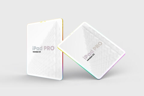 iPad Pro Clay Colorful Free Mockup