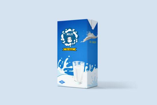 Classic Milk Packaging Free Mockup